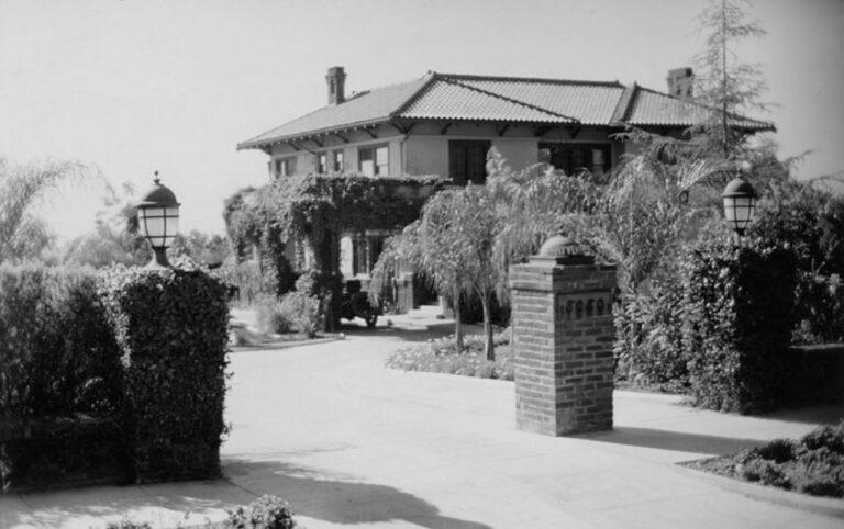 Hayvenhurst viewed from Sunset Boulevard, circa 1918