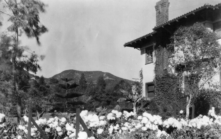 Looking north from Hayvenhurst toward the Hollywood Hills, then known as the Cahuenga Mountains, circa 1918