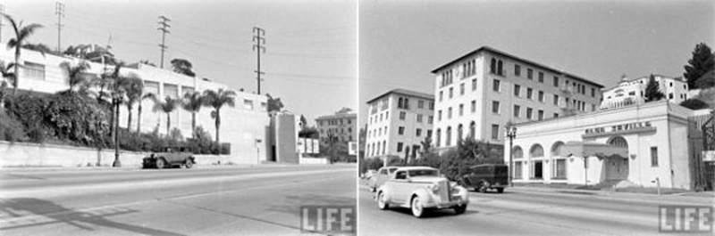 Neighbors: Clover Club (left), west of the Hacienda Park, and Club Seville (right) one door east of the Hacienda Park