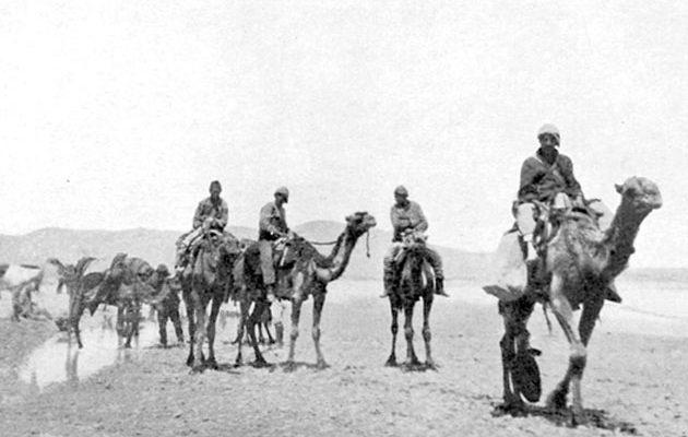 Recreation of the camel corps trek