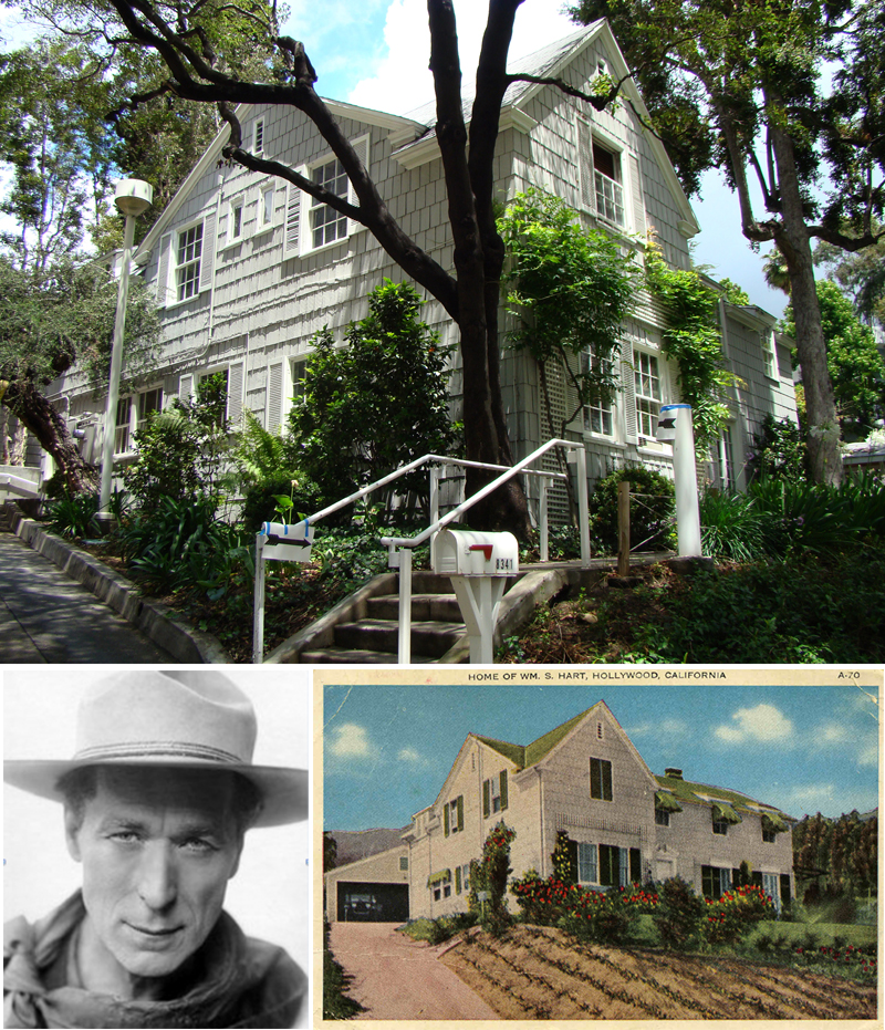 Cowboy star Bill Hart was among the most famous actors of the silent era. He's all but forgotten today – except for here in West Hollywood.  In the 1940s he donated his home on DeLongpre  Avenue to the city.