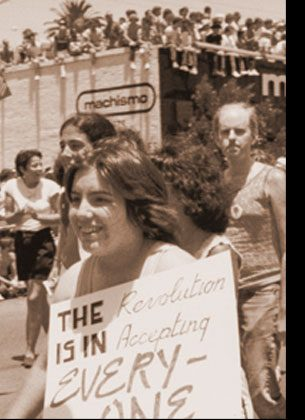 GAY RIGHTS In 1951, the pioneering gay rights group ONE formed in West Hollywood. Over the ensuing decades, the area became a center of LGBT life and a focus for gay civil rights nationwide.
