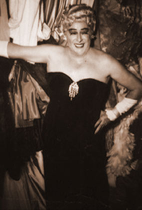 """GAY ON THE STRIP: Cross-dressing acts like Karyl Norman, """"the Creole Fashion Plate,"""" and Rae Bourbon (above), performed on the Strip.  Café International and Jane Jones' Little Club catered to lesbians, while Café Gala and Club Bali were popular with gay men."""