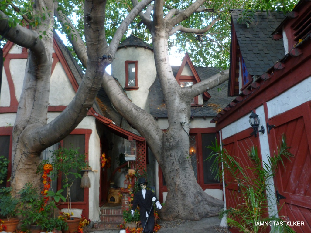 These French chalet-style cottages at 1328 N. Formosa Ave. were designed by noted architects Arthur and Nina Zwebell for Charlie Chaplin. (Photo credit: Iamnotastalker.com)