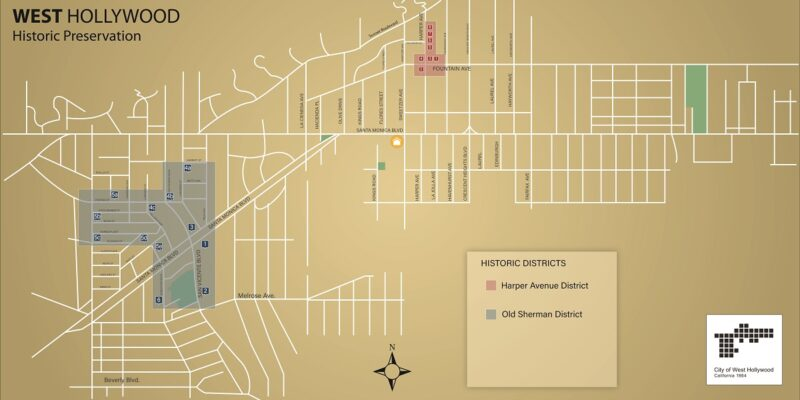 Weho Historic Preservation Map